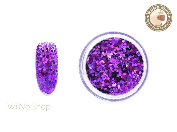 Purple 1mm Hexagon Holographic Glitter / Nail Art Craft (HS07)