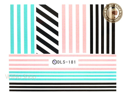 Stripe Line Water Slide Nail Art Decals - 1pc (DLS-181)