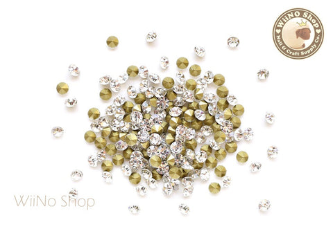ss10 Clear Crystal Round Point Back- 50 pcs