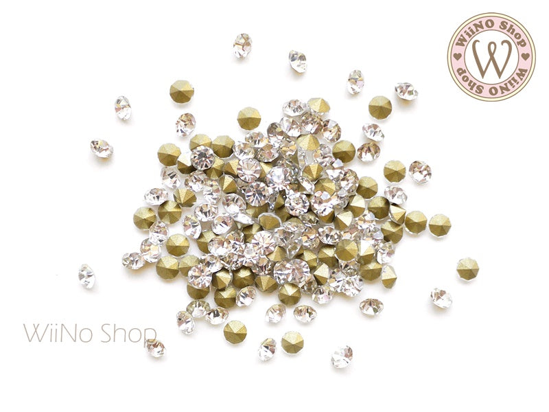 ss12 Clear Crystal Round Point Back- 50 pcs