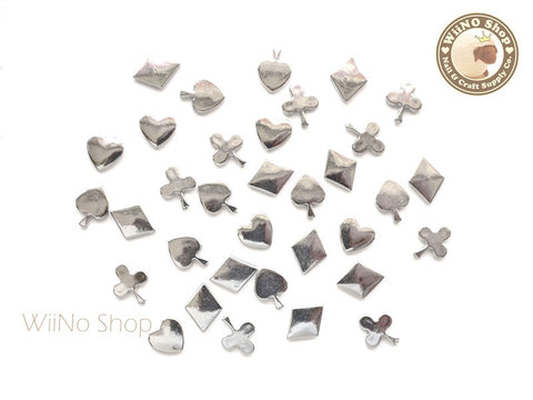 Heart Spade Club Diamond Nail Art Decoration Acrylic Cabochon - 20 pcs