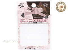 HBJY016 White Lace Nail Sticker Nail Art - 1 pc