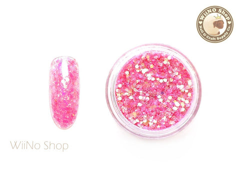 Cosmo Pink Mixed Glitter / Sparkle Powder / Nail Art Craft (CT04)