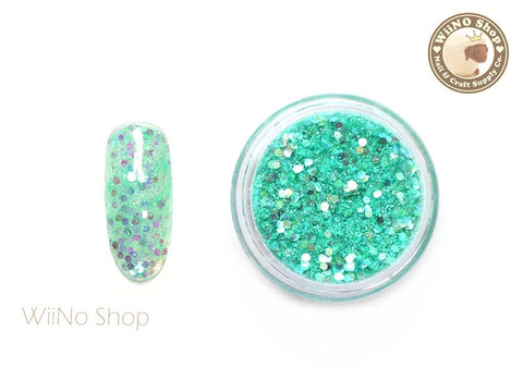Turquoise Margarita Mixed Glitter / Sparkle Powder / Nail Art Craft (CT10)