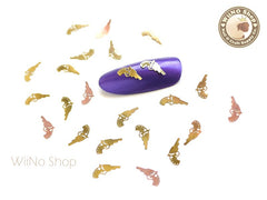 Gold Pistol Gun Ultra Thin Metal Decoration Nail Art - 25 pcs