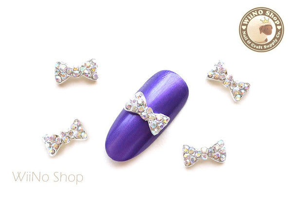 AB Crystal Bow Nail Metal Charm Nail Art - 2 pcs