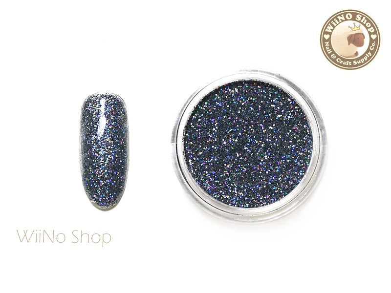 Steel Gray Holographic Glitter Dust (BL08)