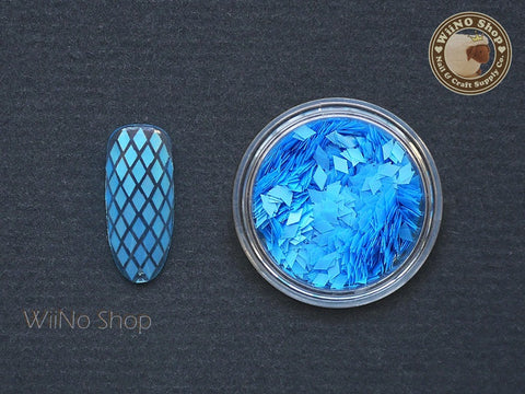 2 x 3mm Neon Blue Diamond Shape Glitter