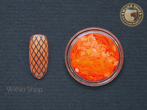 2 x 3mm Neon Orange Diamond Shape Glitter