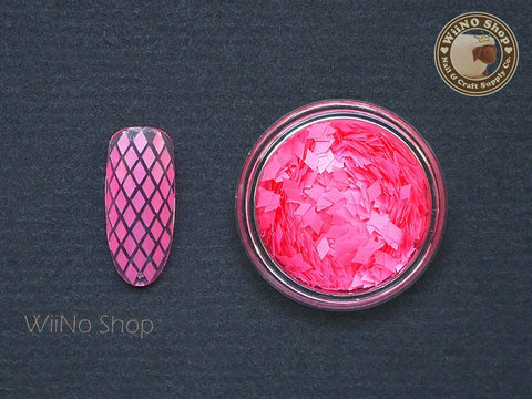 2 x 3mm Neon Pink Diamond Shape Glitter