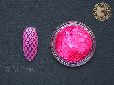 2 x 3mm Neon Hot Pink Diamond Shape Glitter
