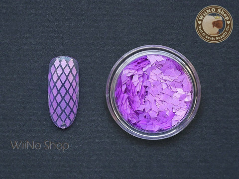 2 x 3mm Neon Purple Diamond Shape Glitter