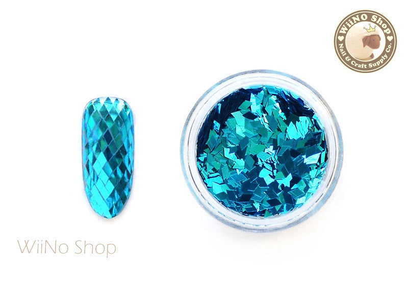 2 x 3mm Turquoise Diamond Shape Glitter (DM05)