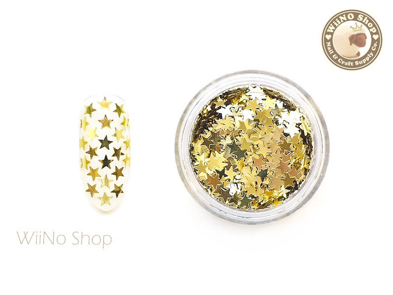 3mm Gold Star Nail Art Glitter
