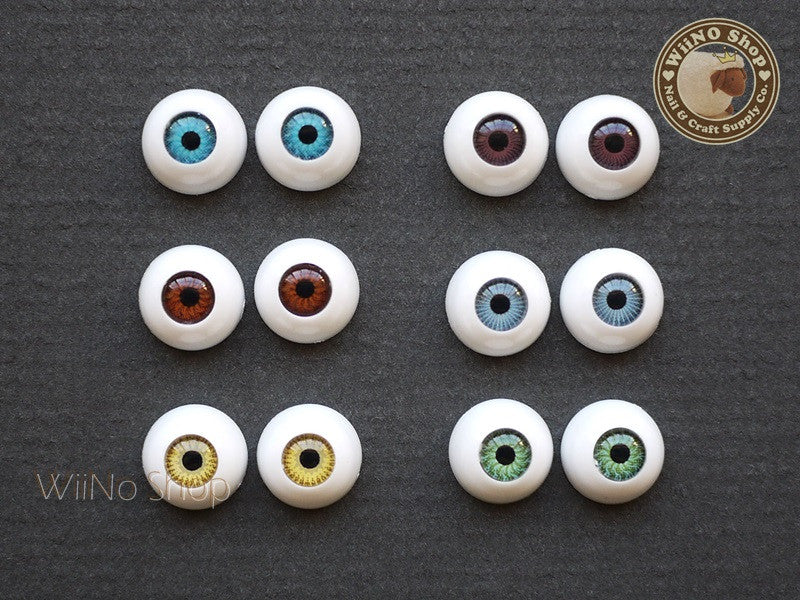 10mm Eyes Nail Art Deco - 2 pcs
