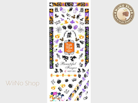 Mickey Minnie Mouse Halloween Water Slide Nail Art Decals - 1pc (HOT-201)