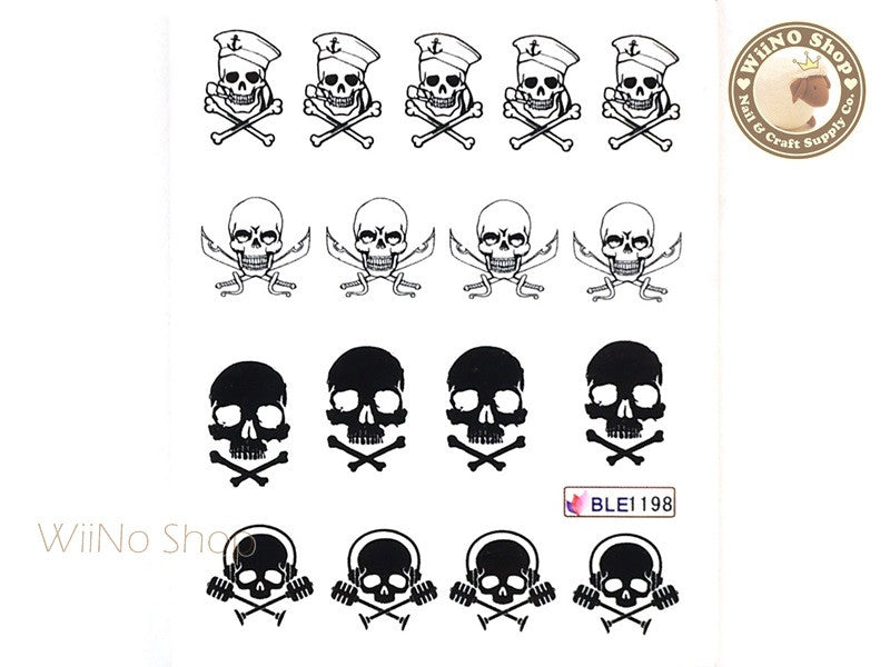Pirate Skull Water Slide Nail Art Decals 1pc Ble1198 Wiino Shop