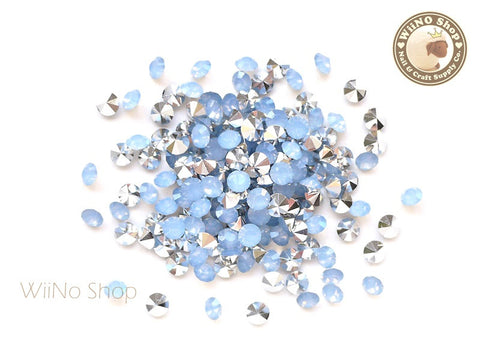 ss18 Air Blue Opal Round Diamond Style 3D Point Back Acrylic Rhinestone - 50 pcs