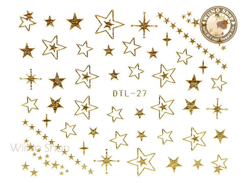 Gold Star Nail Art Sticker - 1 pc (DTL-27G)