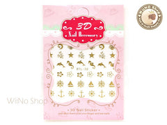 Gold Summer Beach Nail Art Sticker - 1 pc (DTL-30G)
