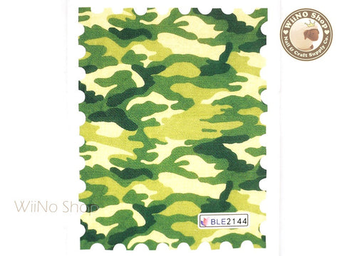 Green Camouflage Pattern Water Slide Nail Art Decals - 1pc (BLE2144)