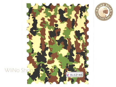 Camouflage Pattern Water Slide Nail Art Decals - 1pc (BLE2145)