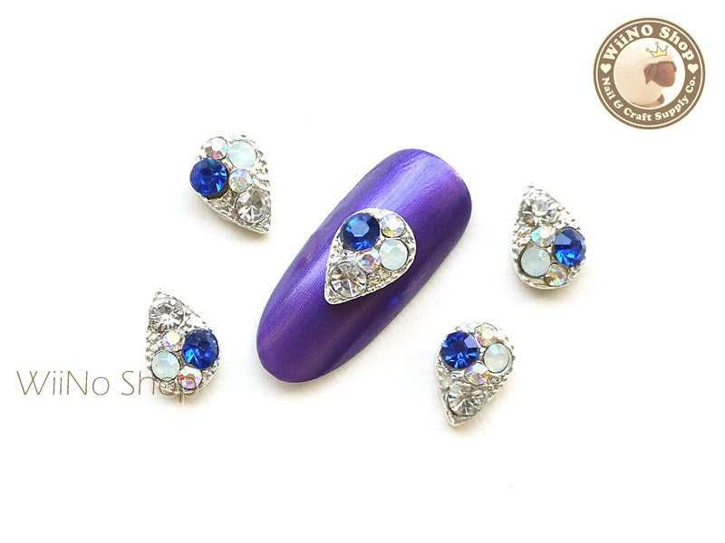 Blue Drop Nail Metal Charm Nail Art - 2 pcs