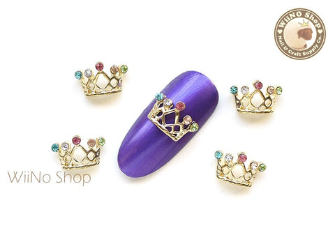 Princess Crown Nail Metal Charm - 2 pcs