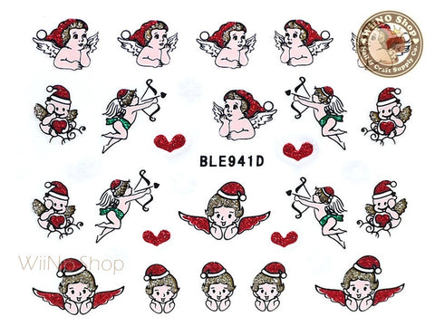 Christmas Angel Adhesive Nail Sticker Nail Art - 1 pc (BLE941D)