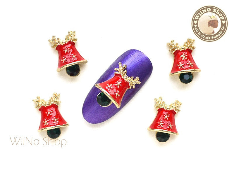 Jingle Bell Metal Nail Art Charm - 2 pcs (JB02)