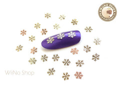 Gold Snowflake Ultra Thin Metal Decoration Nail Art - 25 pcs