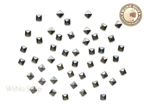 3mm Gunmetal Square Pyramid Metal Studs - 25 pcs
