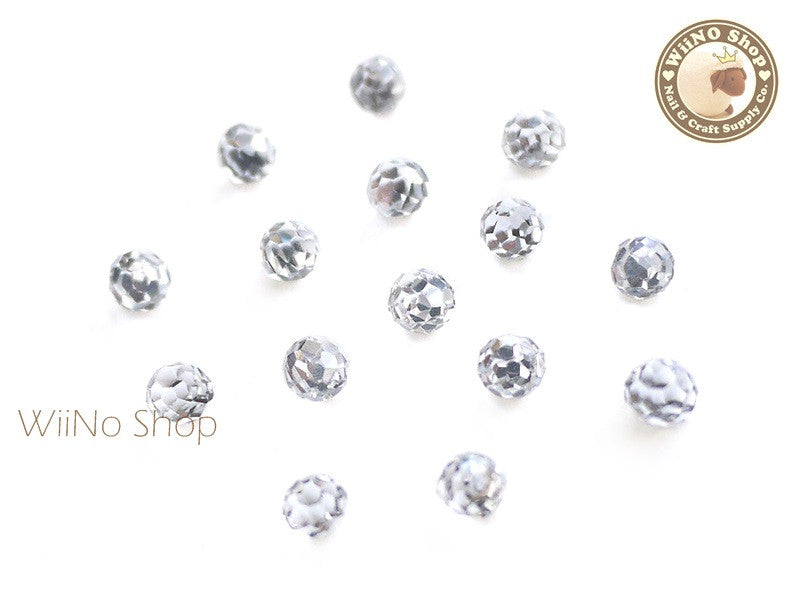4mm Clear 3D Globe Crystal Rhinestone - 5 pcs