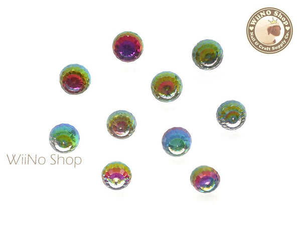 6mm Rainbow 3D Globe Crystal Rhinestone - 5 pcs