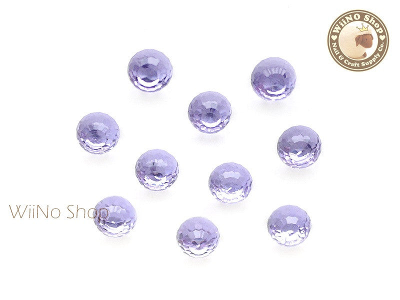 6mm Light Purple 3D Globe Crystal Rhinestone - 5 pcs