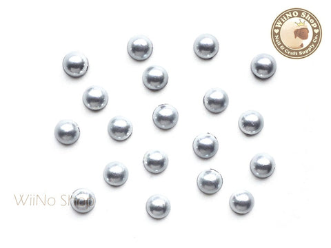 5mm Antique Silver Half Round Pearl - 15 pcs