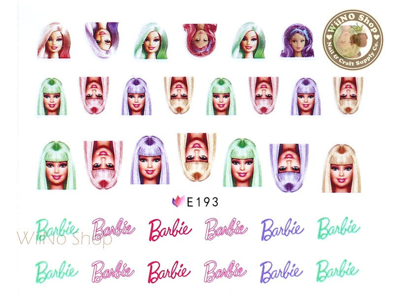 E193 Fashion Doll Nail Sticker Nail Art - 1 pc
