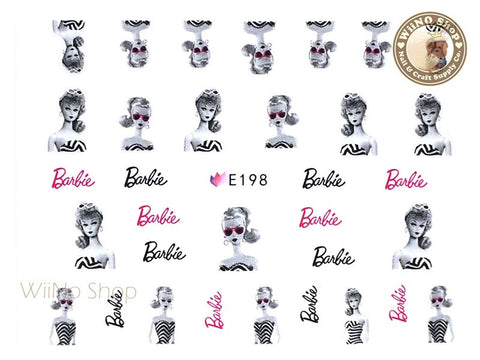 E198 Fashion Doll Nail Sticker Nail Art - 1 pc