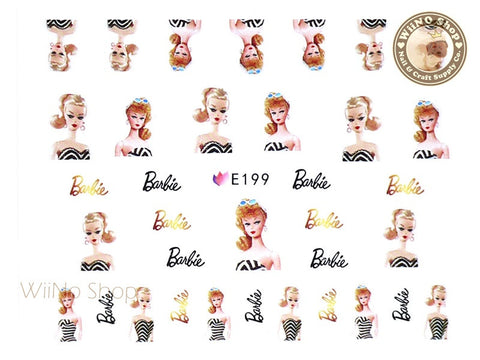 E199 Fashion Doll Nail Sticker Nail Art - 1 pc