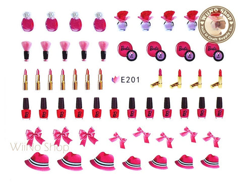 E201 Fashion Doll Makeup Nail Sticker Nail Art - 1 pc