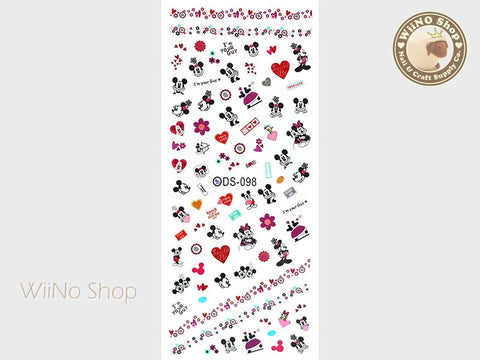 Mickey Minnie Water Slide Nail Art Decals - 1 pc (DS-098)