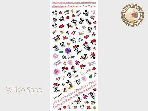 Mickey Minnie Water Slide Nail Art Decals - 1 pc (DS-101)