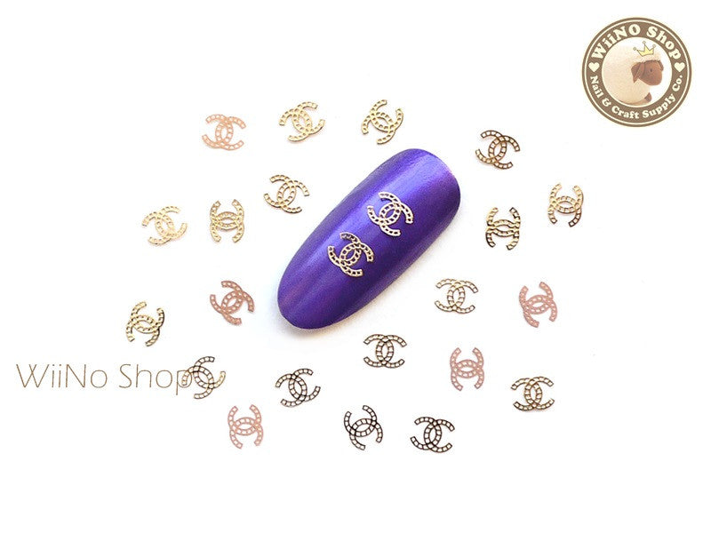 Gold CoCo Ultra Thin Nail Art Metal Decoration - 25 pcs
