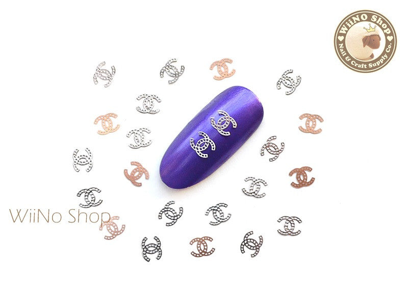 Silver CoCo Ultra Thin Nail Art Metal Decoration - 25 pcs