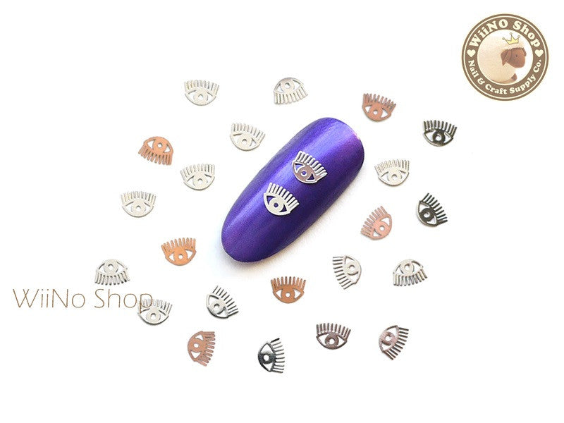 Silver Eye Ultra Thin Nail Art Metal Decoration - 25 pcs