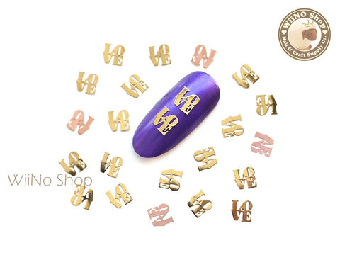 Gold Love Ultra Thin Nail Art Metal Decoration - 25 pcs