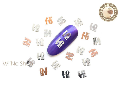 Silver Love Ultra Thin Metal Decoration Nail Art - 25 pcs
