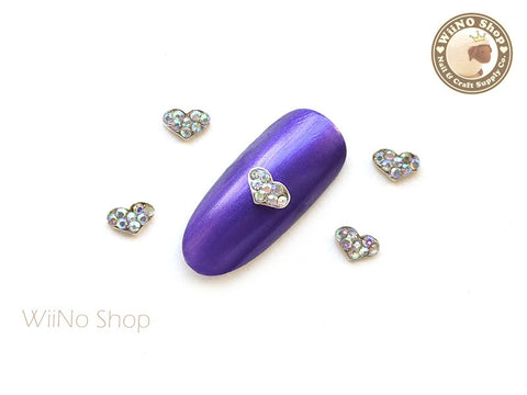 Mini Heart Nail Metal Charm Nail Art - 2 pcs