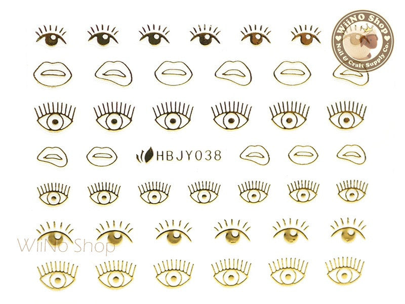 HBJY038 Gold Eyes Nail Sticker Nail Art - 1 pc