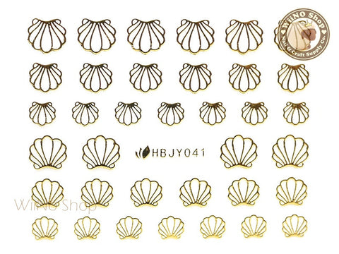 HBJY041 Gold Shell Nail Sticker Nail Art - 1 pc